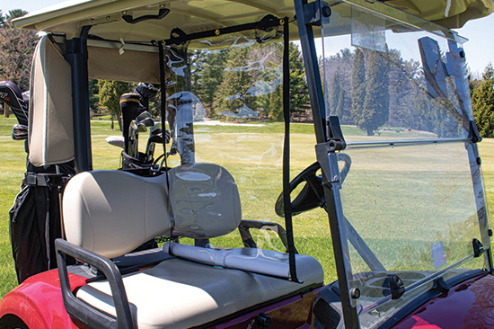 The Golf Cart Divider in use - close up